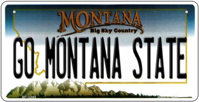 Go Montana State Novelty Metal Bicycle Plate BP-12865