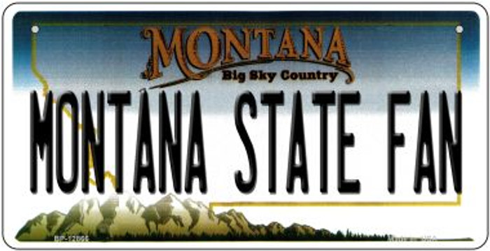 Montana State Fan Novelty Metal Bicycle Plate BP-12866
