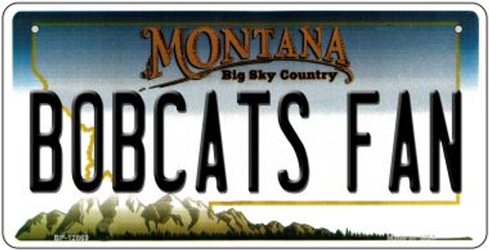 Bobcats Fan Novelty Metal Bicycle Plate BP-12869