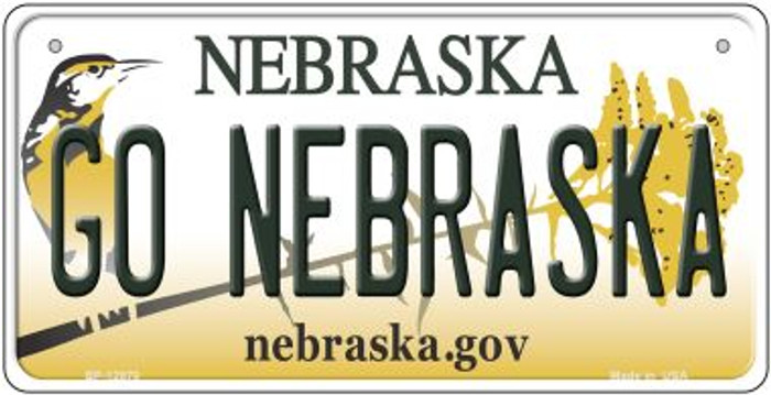 Go Nebraska Novelty Metal Bicycle Plate BP-12870