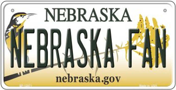 Nebraska Fan Novelty Metal Bicycle Plate BP-12871
