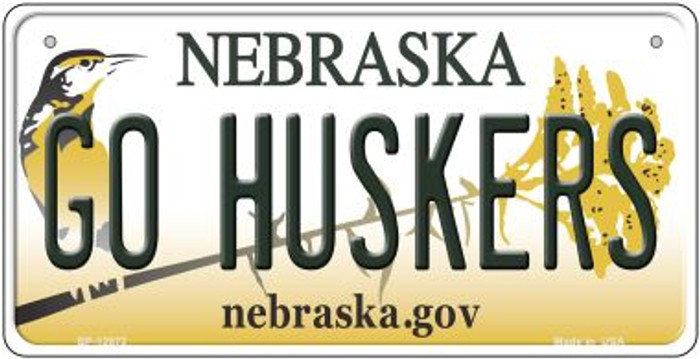 Go Huskers Novelty Metal Bicycle Plate BP-12872