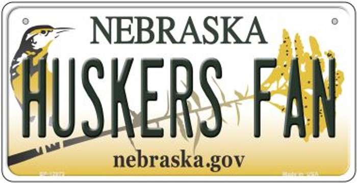 Huskers Fan Novelty Metal Bicycle Plate BP-12873