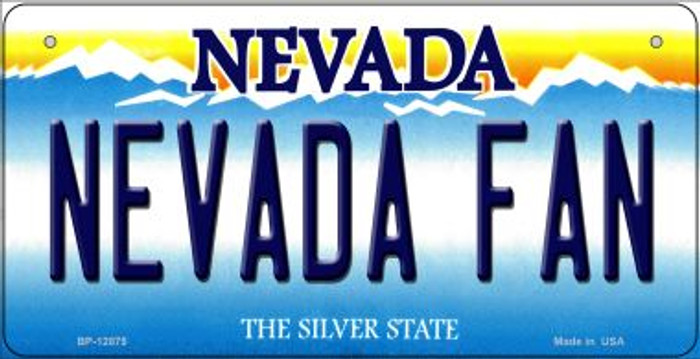 Nevada Fan Novelty Metal Bicycle Plate BP-12875