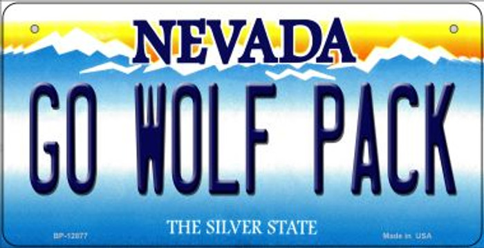 Go Wolf Pack Novelty Metal Bicycle Plate BP-12877