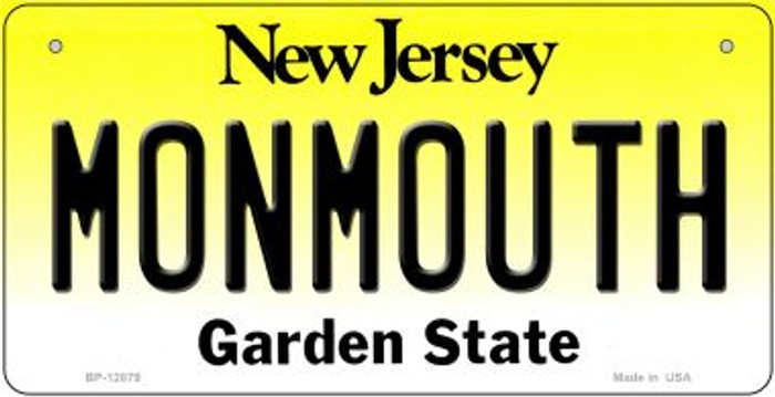 Monmouth Novelty Metal Bicycle Plate BP-12879
