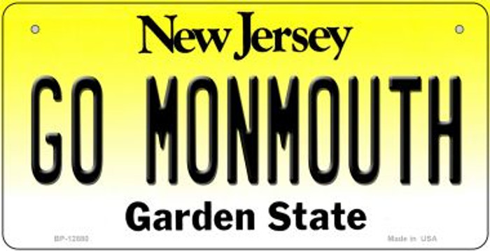 Go Monmouth Novelty Metal Bicycle Plate BP-12880