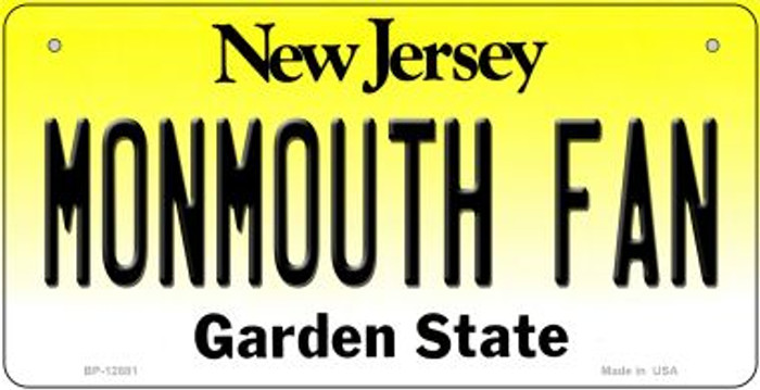 Monmouth Fan Novelty Metal Bicycle Plate BP-12881