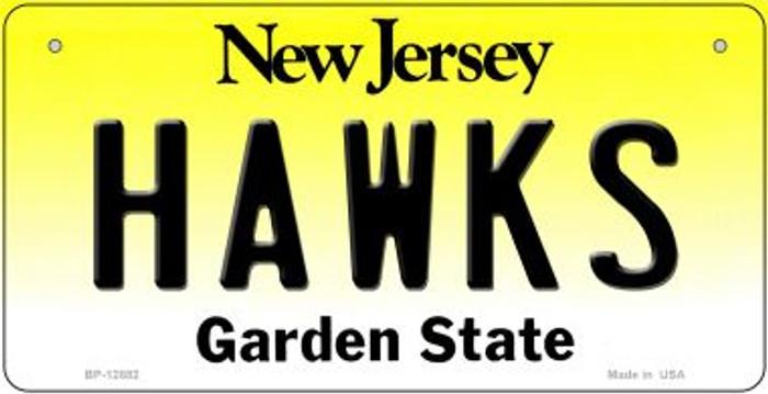 Hawks Novelty Metal Bicycle Plate BP-12882