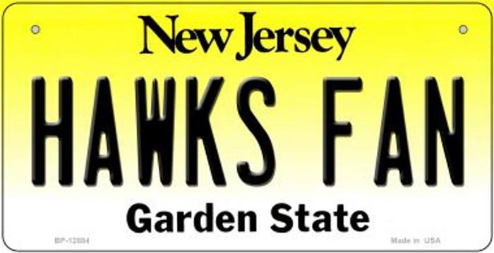 Hawks Fan Novelty Metal Bicycle Plate BP-12884