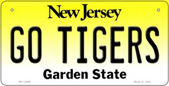 Go Tigers Novelty Metal Bicycle Plate BP-12888