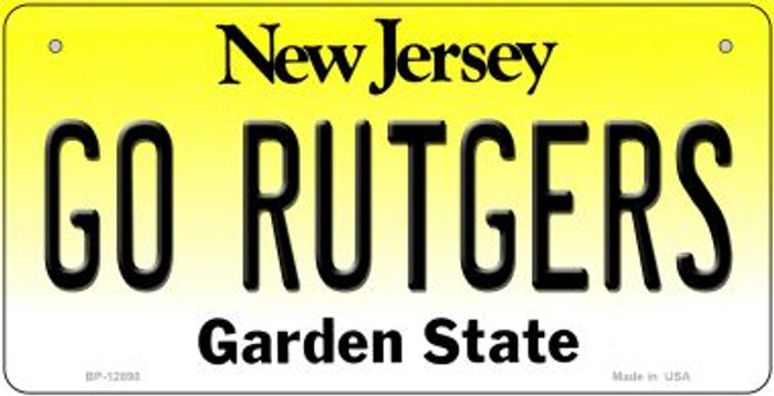 Go Rutgers Novelty Metal Bicycle Plate BP-12890