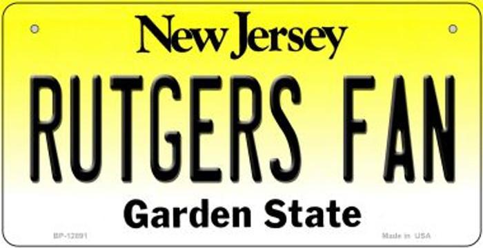 Rutgers Fan Novelty Metal Bicycle Plate BP-12891