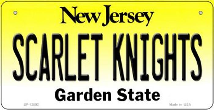 Scarlet Knights Novelty Metal Bicycle Plate BP-12892