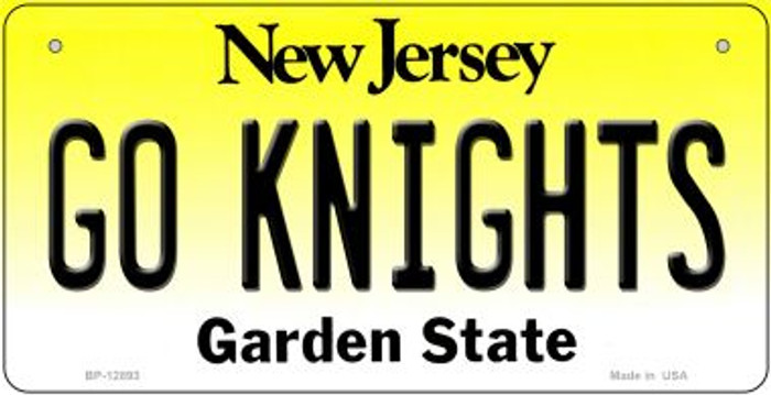 Go Knights Novelty Metal Bicycle Plate BP-12893