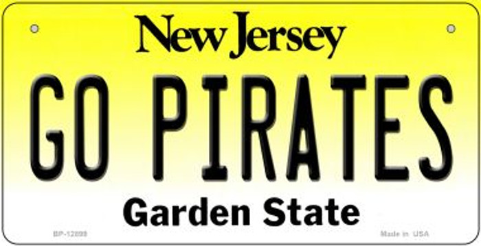 Go Pirates Novelty Metal Bicycle Plate BP-12899