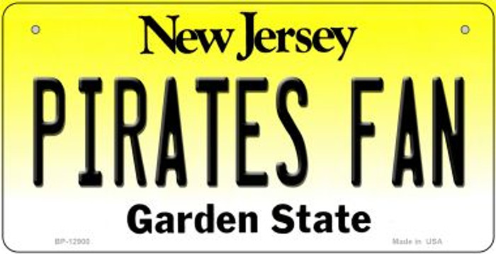 Pirates Fan Novelty Metal Bicycle Plate BP-12900