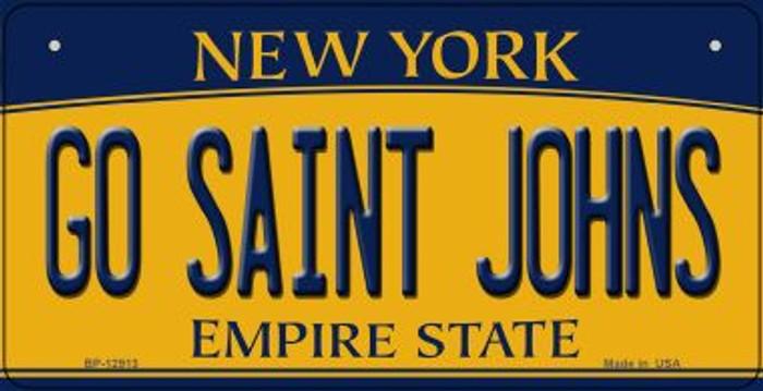 Go Saint Johns Novelty Metal Bicycle Plate BP-12913