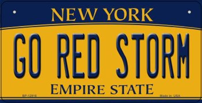 Go Red Storm Novelty Metal Bicycle Plate BP-12916