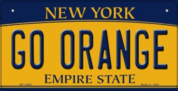 Go Orange Novelty Metal Bicycle Plate BP-12921