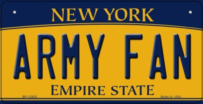 Army Fan Novelty Metal Bicycle Plate BP-12925