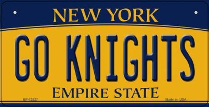 Go Black Knights Novelty Metal Bicycle Plate BP-12927