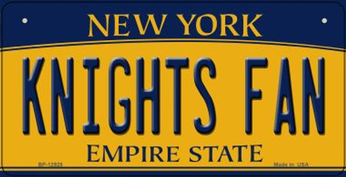 Black Knights Fan Novelty Metal Bicycle Plate BP-12928