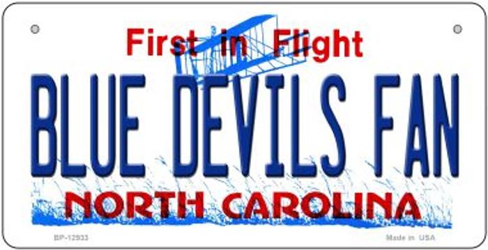 Blue Devils Fan Novelty Metal Bicycle Plate BP-12933