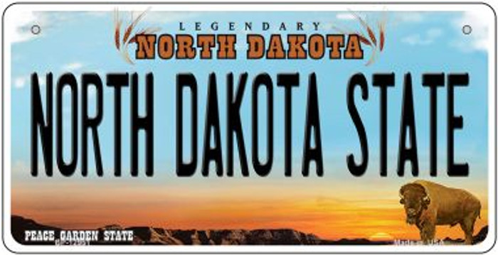 North Dakota State Novelty Metal Bicycle Plate BP-12951