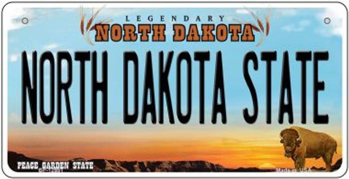 North Dakota State Novelty Metal Bicycle Plate BP-12951