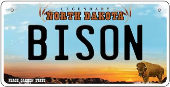 Bison Novelty Metal Bicycle Plate BP-12954