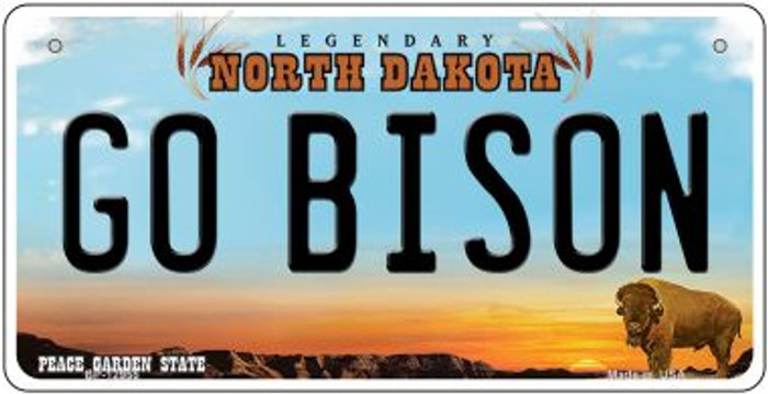 Go Bison Novelty Metal Bicycle Plate BP-12955