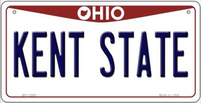 Kent State Novelty Metal Bicycle Plate BP-12957
