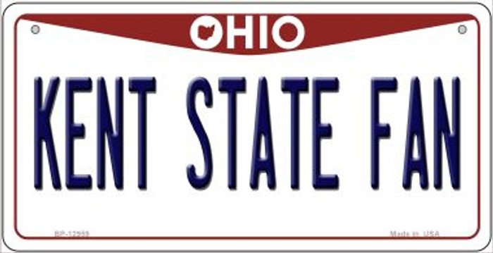 Kent State Fan Novelty Metal Bicycle Plate BP-12959