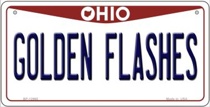 Golden Flashes Novelty Metal Bicycle Plate BP-12960