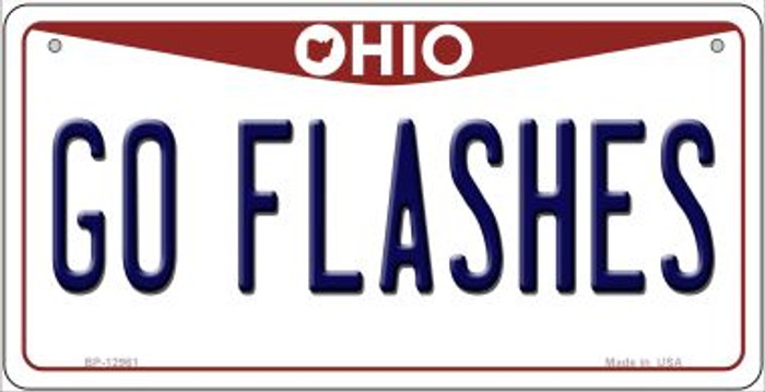 Go Flashes Novelty Metal Bicycle Plate BP-12961