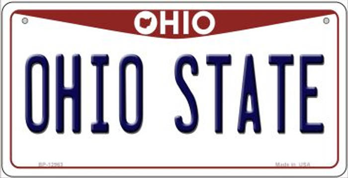 Ohio State Novelty Metal Bicycle Plate BP-12963