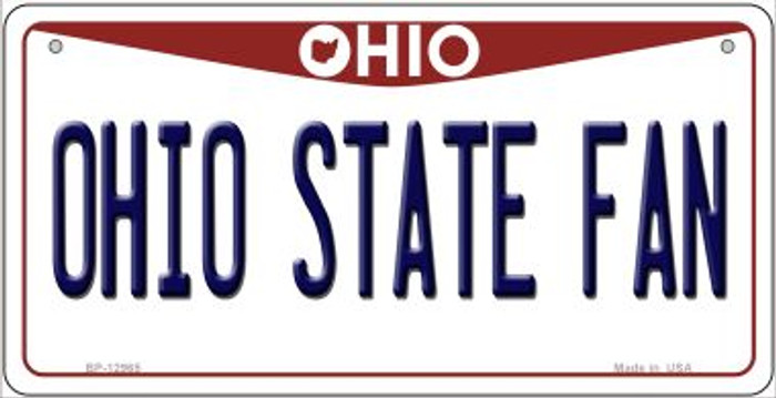 Ohio State Fan Novelty Metal Bicycle Plate BP-12965