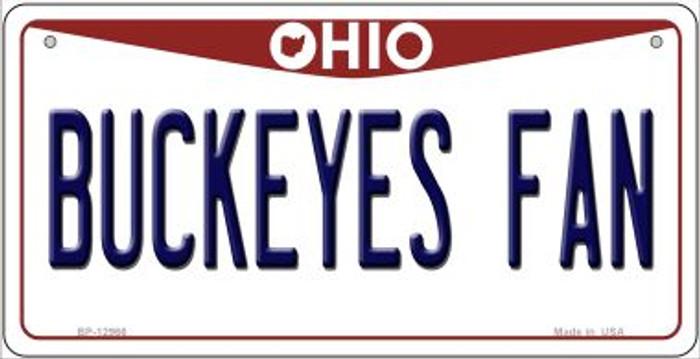 Buckeyes Fan Novelty Metal Bicycle Plate BP-12966