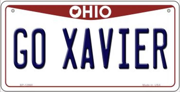 Go Xavier Novelty Metal Bicycle Plate BP-12968