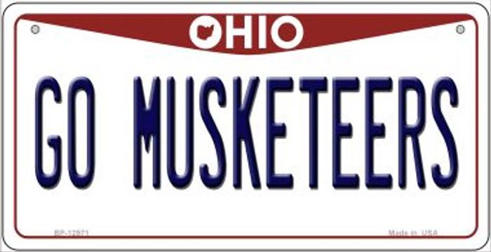 Go Musketeers Novelty Metal Bicycle Plate BP-12971