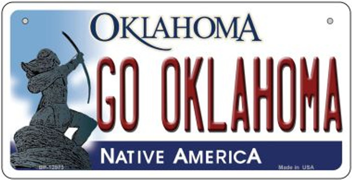 Go Oklahoma Novelty Metal Bicycle Plate BP-12973