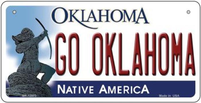 Go Oklahoma Novelty Metal Bicycle Plate BP-12973