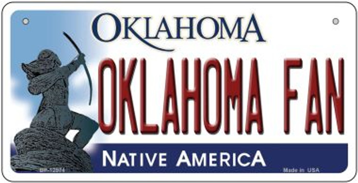 Oklahoma Fan Novelty Metal Bicycle Plate BP-12974