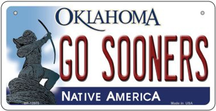 Go Sooners Novelty Metal Bicycle Plate BP-12975
