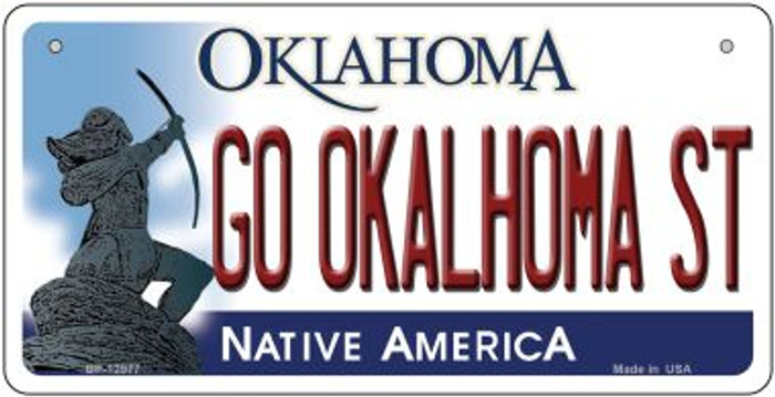 Go Oklahoma State Novelty Metal Bicycle Plate BP-12977