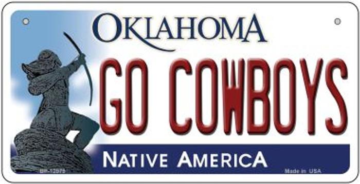 Go Cowboys Novelty Metal Bicycle Plate BP-12979