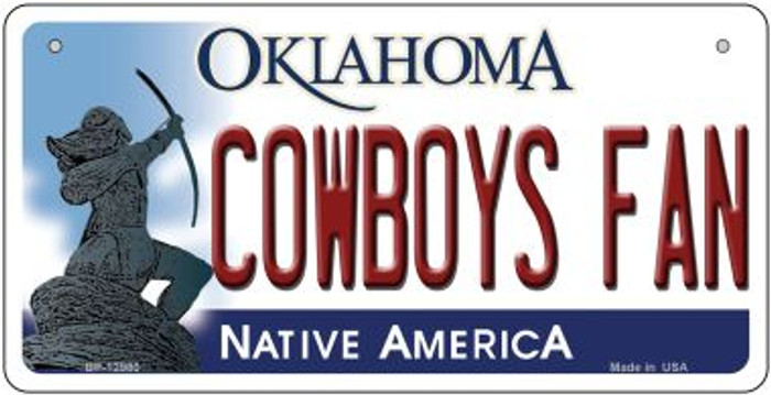 Cowboys Fan Novelty Metal Bicycle Plate BP-12980