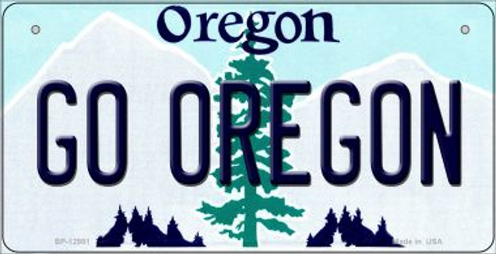 Go Oregon Novelty Metal Bicycle Plate BP-12981