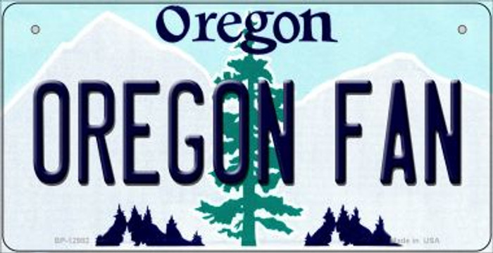 Oregon Fan Novelty Metal Bicycle Plate BP-12982